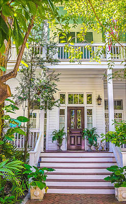 Homes Of Key West 4 Print by Julie Palencia