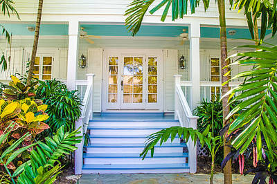 Homes Of Key West 5 Print by Julie Palencia