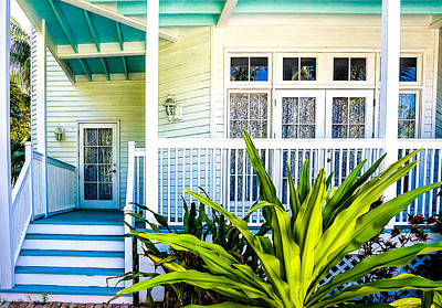 Homes Of Key West 6 Print by Julie Palencia