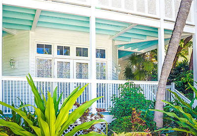 Homes Of Key West 7 Print by Julie Palencia