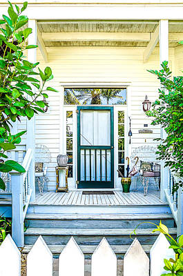 Homes Of Key West 9 Print by Julie Palencia