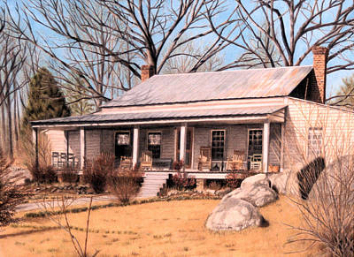 Homestead Print by Maxine Blackwell