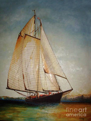 Historic Schooner Painting - Homeward Bound by Corey Ford