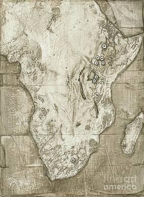 Hominid Fossil Sites In Africa Print by Kennis & Kennis/MSF