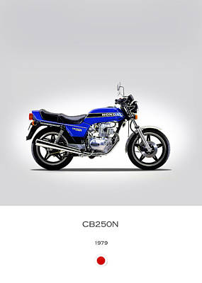 Honda Cb250n 1979 Print by Mark Rogan