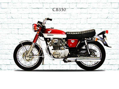 Honda Cb350 1970 Print by Mark Rogan