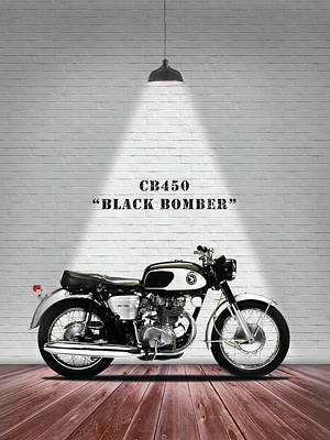 Honda Cb450 1965 Print by Mark Rogan