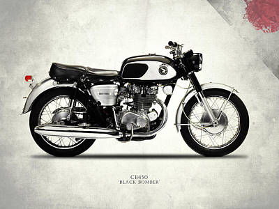 Honda Cb450 1967 Print by Mark Rogan
