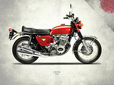 Honda Cb750 1970 Print by Mark Rogan