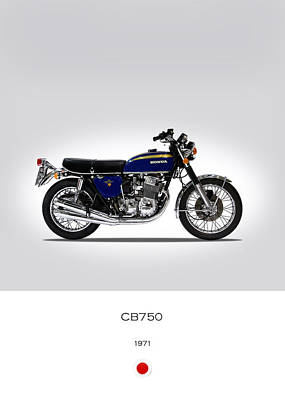 Honda Cb750 1971 Print by Mark Rogan