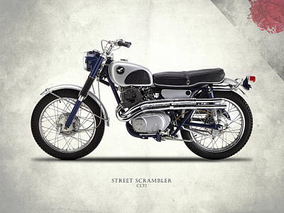 Honda Cl72 Street Scrambler 1966 Print by Mark Rogan