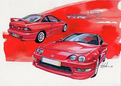 Honda Painting - Honda Integra Type R by Yoshiharu Miyakawa
