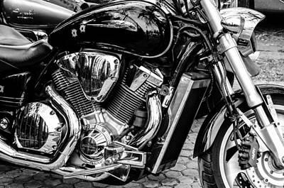 Honda Mortorcycle Print by Andrea Mazzocchetti