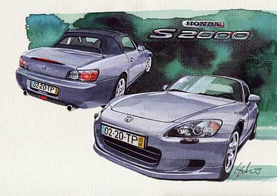 Honda Painting - Honda S2000 by Yoshiharu Miyakawa