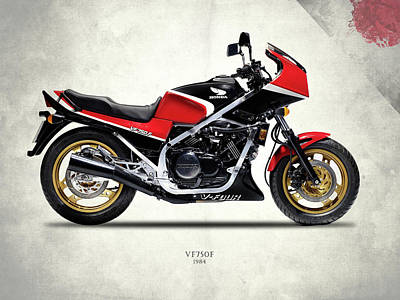 Honda Vf750f 1984 Print by Mark Rogan