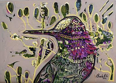 Hummingbird Painting - Honeyeaters I by Camilo Esparza