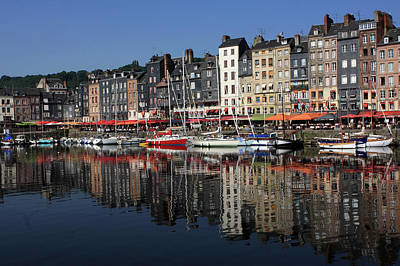 Dining Out Photograph - Honfleur Harbour, Normandy, France by Aidan Moran