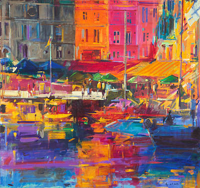 Storefront Painting - Honfleur Harbour by Peter Graham