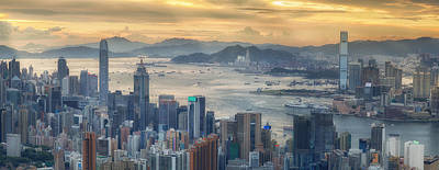 Tsui Photograph - Hong Kong And Kowloon by Anek Suwannaphoom