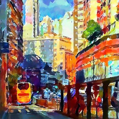 Building Exterior Digital Art - Hong Kong Colors 2 by Yury Malkov