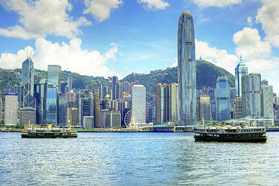 Hong Kong Island, Cnetral District And Harbour Original by Chris Smith