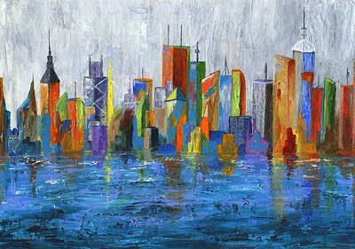Water Tower Place Painting - Hong Kong Island by Jamie Frier