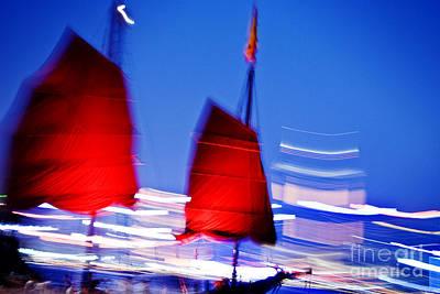 Tsui Photograph - Hong Kong Lights by Ray Laskowitz - Printscapes