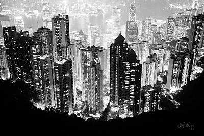 Hong Kong Digital Art - Hong Kong Nightscape by Joseph Westrupp