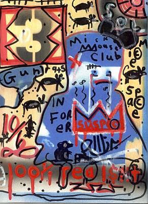 Folk Art Mixed Media - Honor Among Thieves by Robert Wolverton Jr
