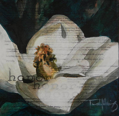 Mixed Media - Honor - Magnolia by Trish McKinney
