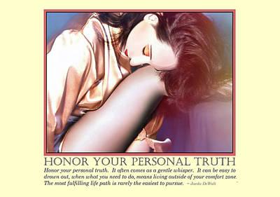 Honor Your Personal Truth Print by Jaeda DeWalt