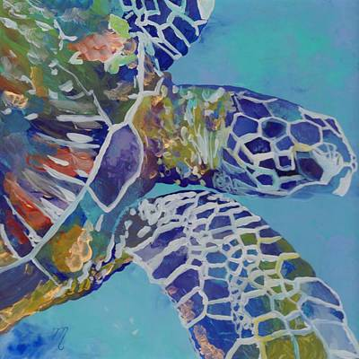 Sea Life Painting - Honu by Marionette Taboniar