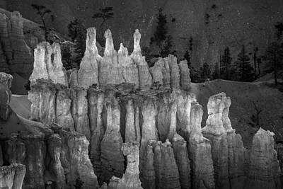 Bryce Canyon National Park Photograph - Hoodoos In Monochrome by Joseph Smith