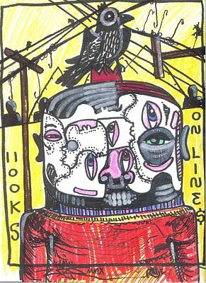 Folk Art Mixed Media - Hooks On Lines by Robert Wolverton Jr