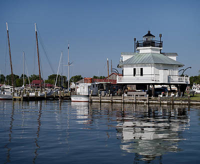 Saint Michael Photograph - Hooper Strait Lighthouse St. Michaels Maryland by Brendan Reals
