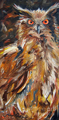 Painting - Hoot Of A Good Time  by Joseph Palotas