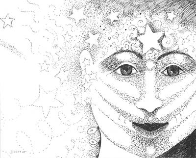 Cosmic Drawing - Hope And Rebirth by Helena Tiainen