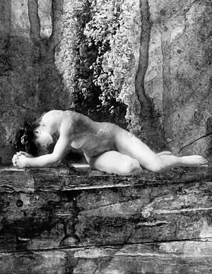 Depression Mixed Media - Hope Eternal Black And White by Georgiana Romanovna