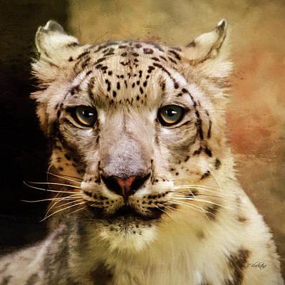 Jordan Painting - Hope For Tomorrow - Snow Leopard Art by Jordan Blackstone