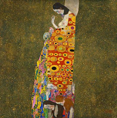 Hope Painting - Hope II by Gustav Klimt