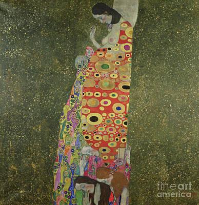 Hope II Print by Gustav Klimt