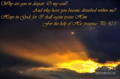 Hope In God Print by Thomas R Fletcher