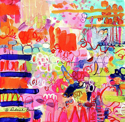 Shouting Painting - Hope Is A Many Splendored Thing by Deborah Burow
