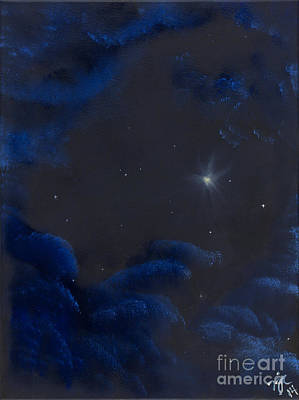 Outer Space Painting - Hope by Nycole Chirhart