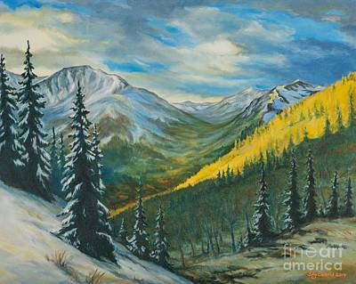 Backpacking Painting - Hope Pass On The Cdt by Sky Evans