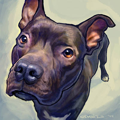 Dog Painting - Hope by Sean ODaniels
