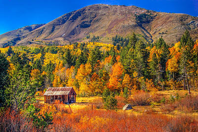 Fall Colors Photograph - Hope Valley California Rustic Barn by Scott McGuire