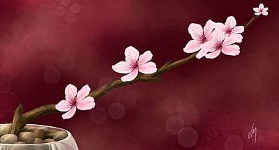 Peaches Painting - Hope by Veronica Minozzi