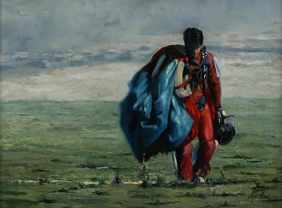 Heather Burton Painting - Hope Walks In by Heather Burton