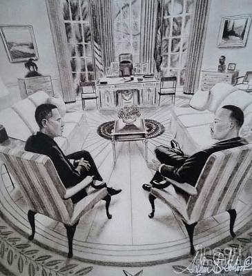 Inauguration Painting - Hopes And Dreams Meet by Art the Artist Abdon